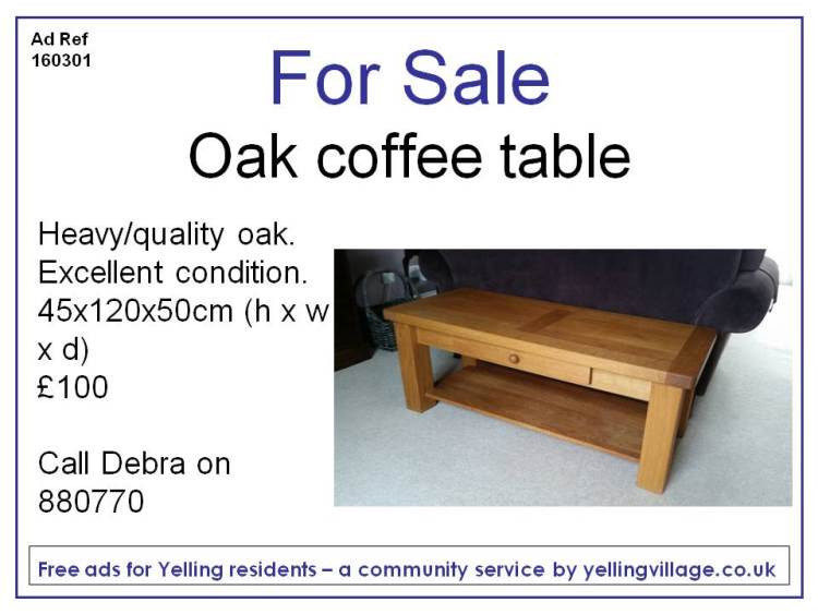 FOR SALE160301